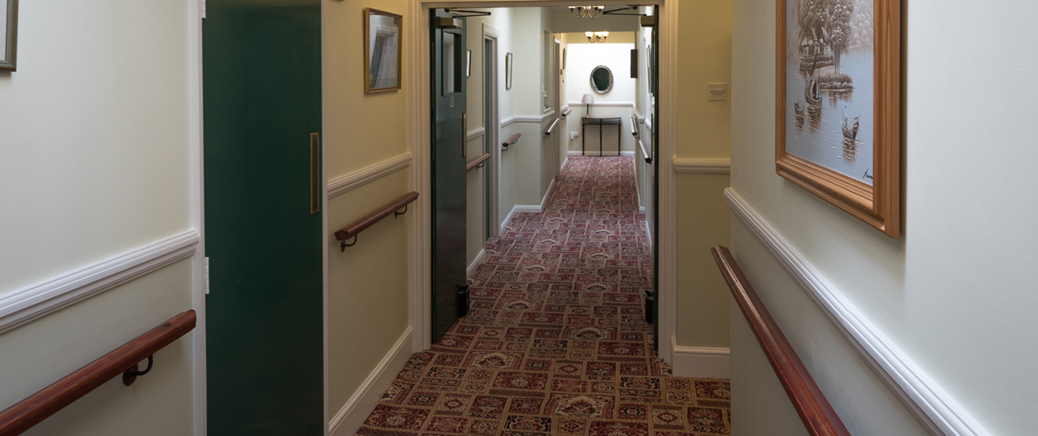Photo of the hallway at Cornelius House Residential Care Home